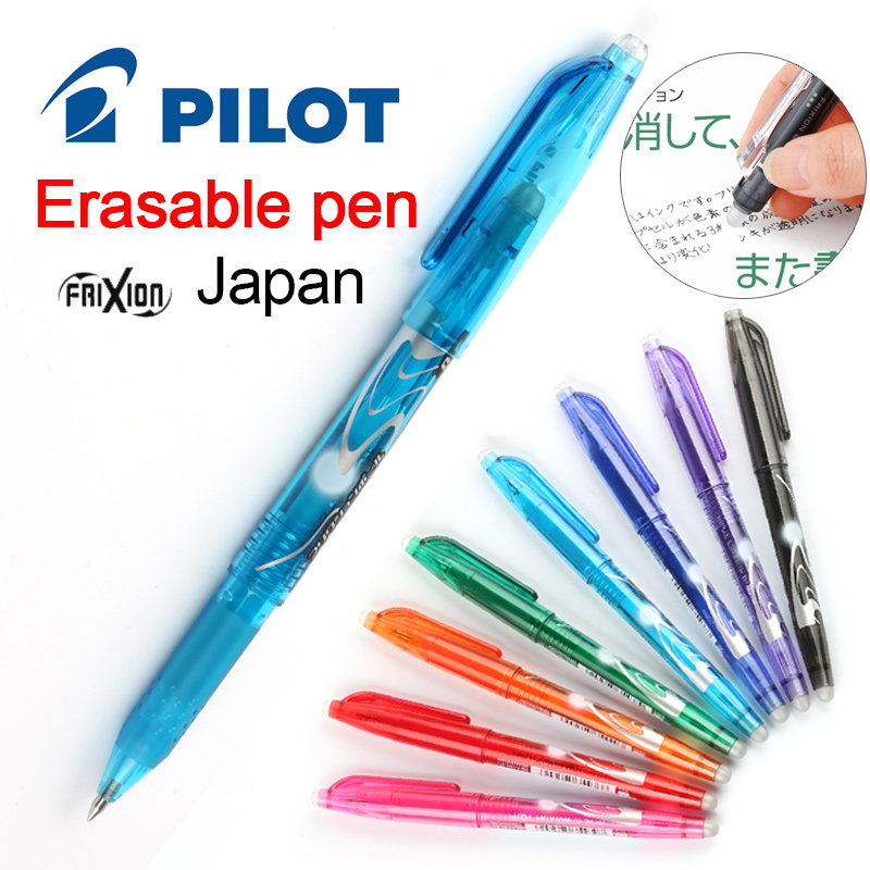 Eraser set F//S Japan NEW Pilot FriXion Erasable Gel Ink Pen 0.5 mm 8 Color