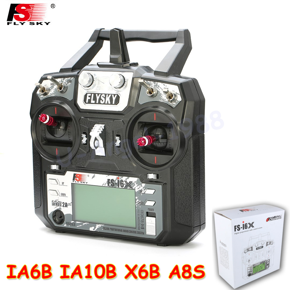 Original Fly sky FS-i6X 10CH 2.4GHz AFHDS 2A RC Transmitter With FS-iA6B FS-iA10B FS-X6B FS-A8S Receiver For Rc Airplane Mode 2 1 set fs i6x 10ch 2 4ghz afhds 2a rc transmitter with fs ia6b fs ia10b fs x6b fs a8s receiver for remote control plane model