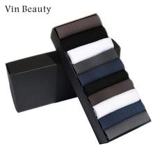 20pcs 10Pair Mens Thin Box Packed Everyday Silk Stocking Breathable Classic Sock