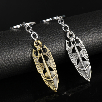 dongsheng Newest The Elder Scrolls 5 Skyrim Pendant Keychain Jewelry Dawnguard HearthFire Dragonborn Amulet Christmas Gift -50 image