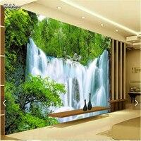 Beibehang özel fotoğraf duvar mural duvar kağıdı lüks kalite hd su peyzaj falls otel büyük duvar mural-3d papel de parede