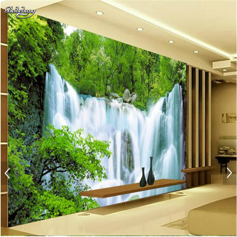 beibehang custom photo wall mural wallpaper Luxury Quality HD Water landscape Falls Hotel large wall mural-3d papel de parede beibehang custom hd mural papel de parede 3d bathroom wallpaper for walls 3 d seaside town harbor wall paper photo wall mural