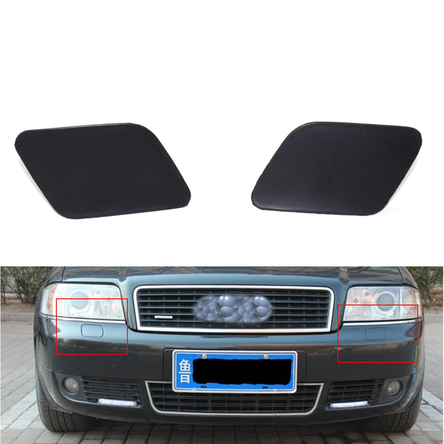 Car Headlight Washer Cover Primered Fit For Audi A C - 02 audi a6