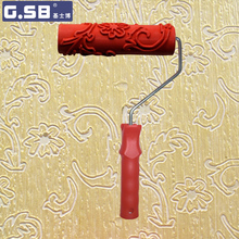 Free shipping 7 #8243 inch Paint Roller for Wall Decoration Paint tools NO 061 model Reliefs paint roller wall decoration cheap Paint Tool Sets Paint Decorating Case G.SB