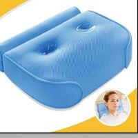 8% Bathtub Cushions Pillow 3D Tub With Sucker Anti skid Bathing Cushions Bath Pillows Non slip type Bathroom Products
