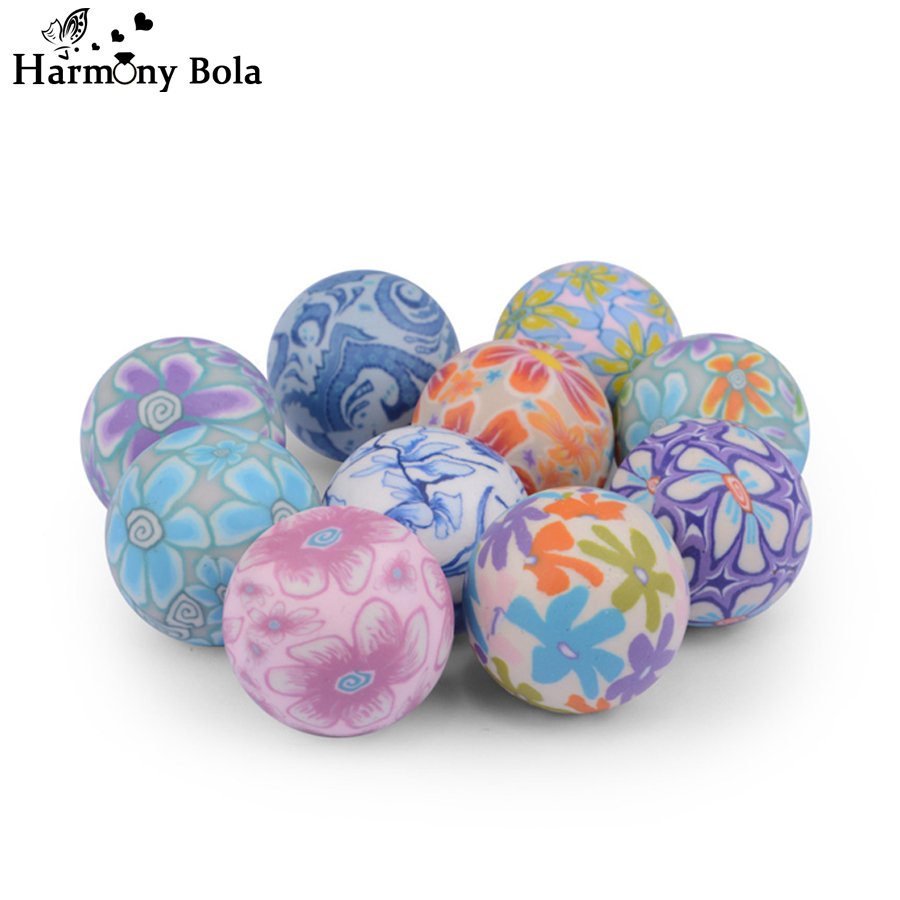 10PCS 20mm Colorful Painting Chime Ball Harmony Bola Ball 2018 Special Design Musical Belly Balls Jewelry For Pregnant