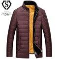 Mens Casacos de inverno Roupas Meth Sólidos Negócios Longo Grosso Casaco de Inverno Casaco Outerwear para baixo casaco jaqueta Parka Moda Me