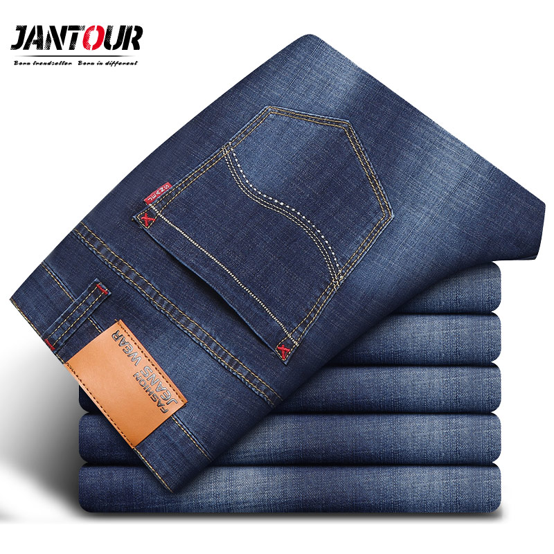 2018 new Straight Jeans Man Casual Fashion Long Pants Denim Trousers Classic Style cotton High Quality Brand Large size 38 40