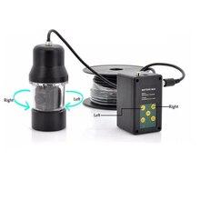 Подводная камера с вращением на 360 градусов для рыбалки, видео инспекция с кабелем 20 м, аккумулятор 4000 мАч, 14 шт. светодиодных ламп ночного видения