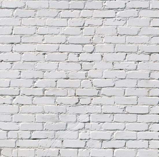 bbe27e3eebdced Populair Witte Bakstenen Muur Art Stof Achtergrond