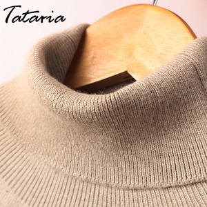 7774231430dbc Tataria Cashmere Knitted Pullover Winter Sweaters For Women