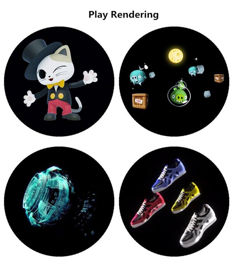 Projecteur holographique 3D lumière mise à niveau Wifi lecteur hologramme LED affichage ventilateur publicité lumière APP contrôle 320 LED s Logo lumières - 6