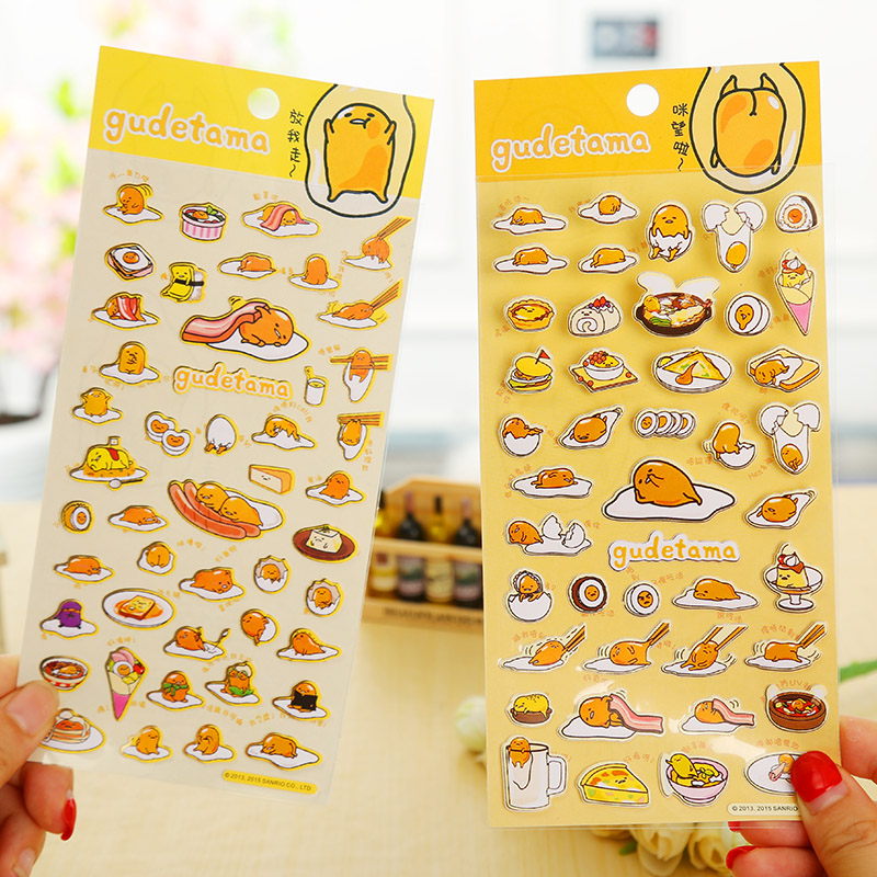 cartoon Gudetama paper sticker DIY decoration sticker for album scrapbooking diary kawaii stationery cartoon animal sticker toy owl giraffe print kids toy sticker cute diary book scrapbooking calendar album deco sticker 1 sheet