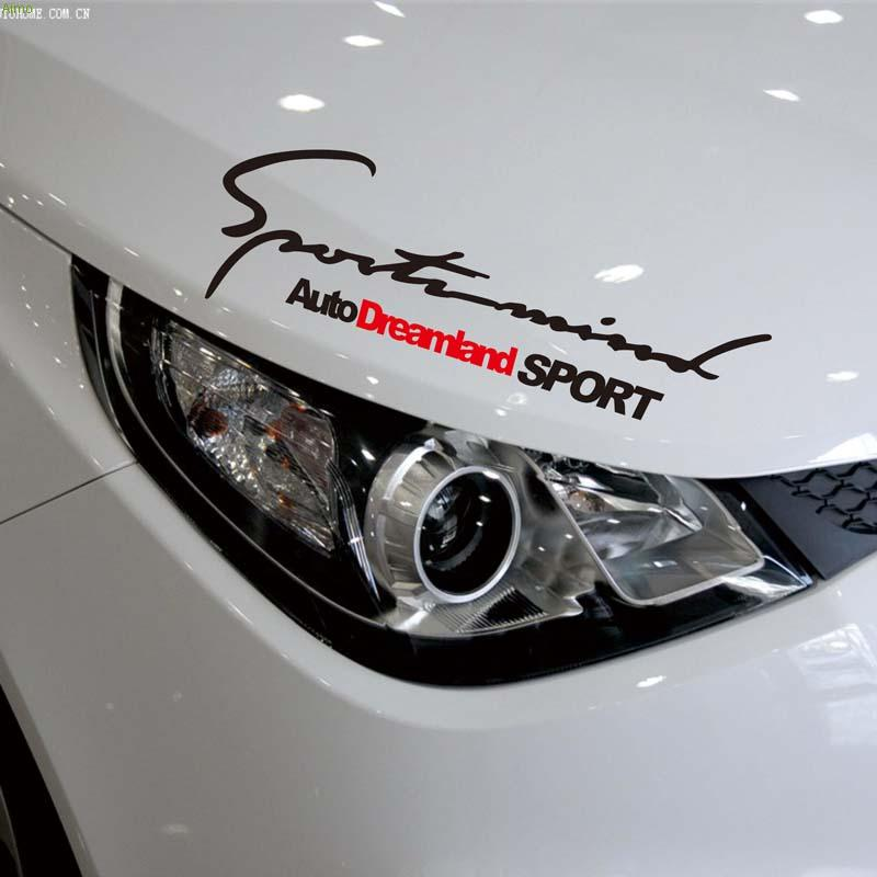Auto Dreamland SPORT Sport Mind stickers and decals on car head,fashion car styling for ford focus 2/opel/skoda/audi a4/mazda 3