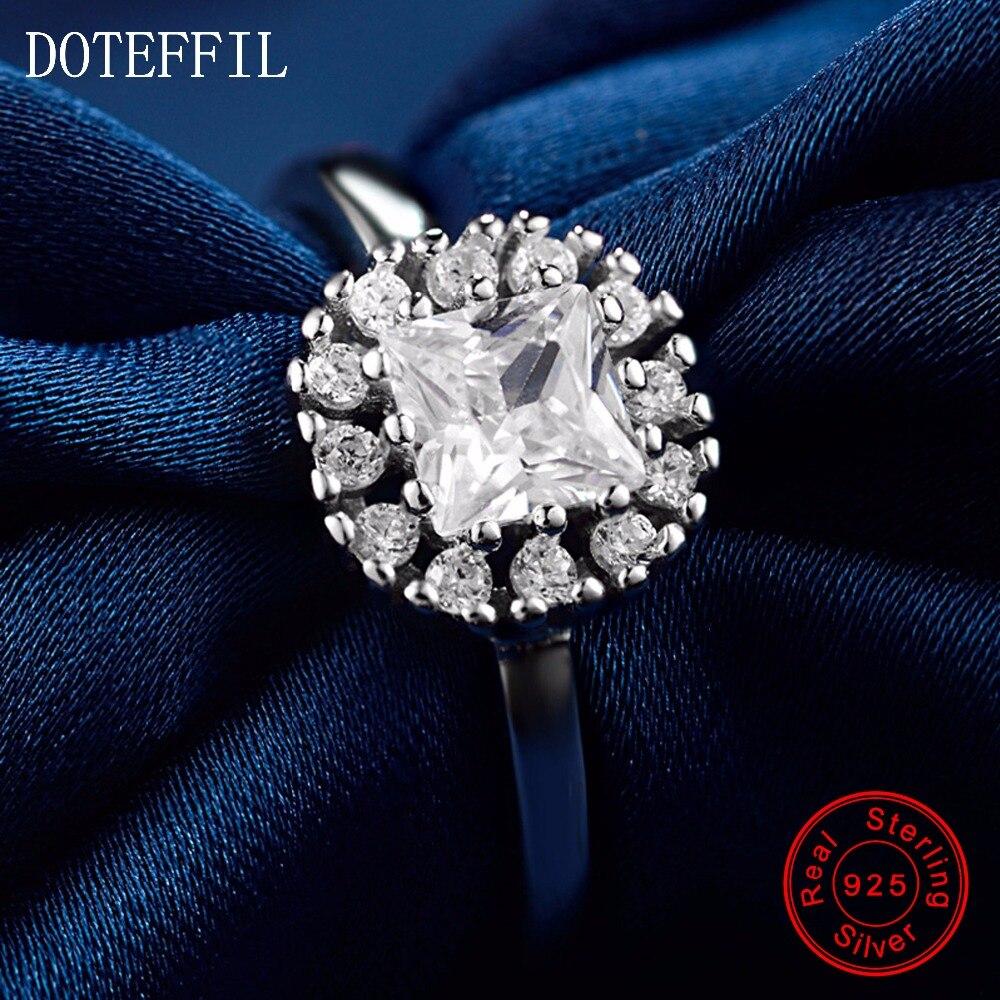 Nové příchodky 100% mincovní stříbro zirkonové prsteny dámské kouzlo stříbrné módní měkké prsteny