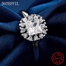 New Arrivals 100% Sterling Silver Zircon Rings Women Charm Silver Fashion Mellow Rings Jewelry
