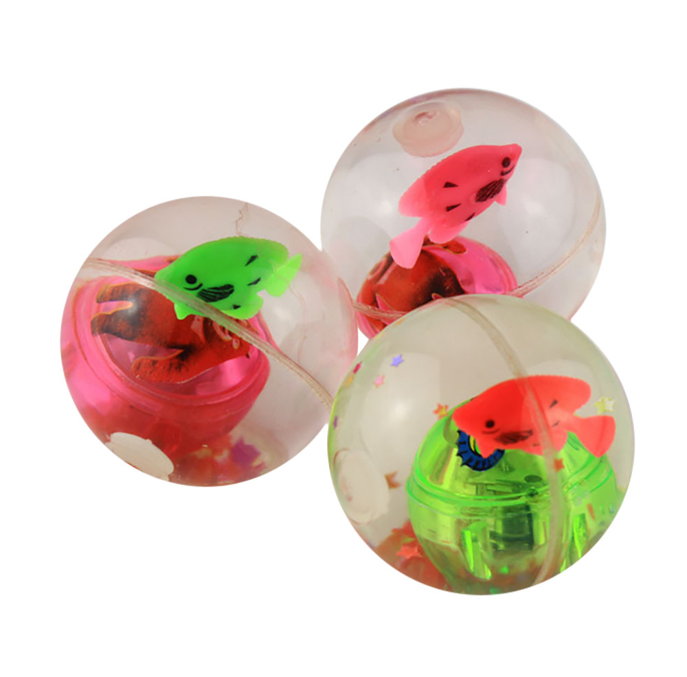 Flash Ball Kids Bouncy Ball With Led Flashing Light birthday Gift Education Toy Baby Toys & Games Children