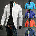 2014 del juego del resorte del bloque del color cadena básica traje casual hombres chaqueta delgada