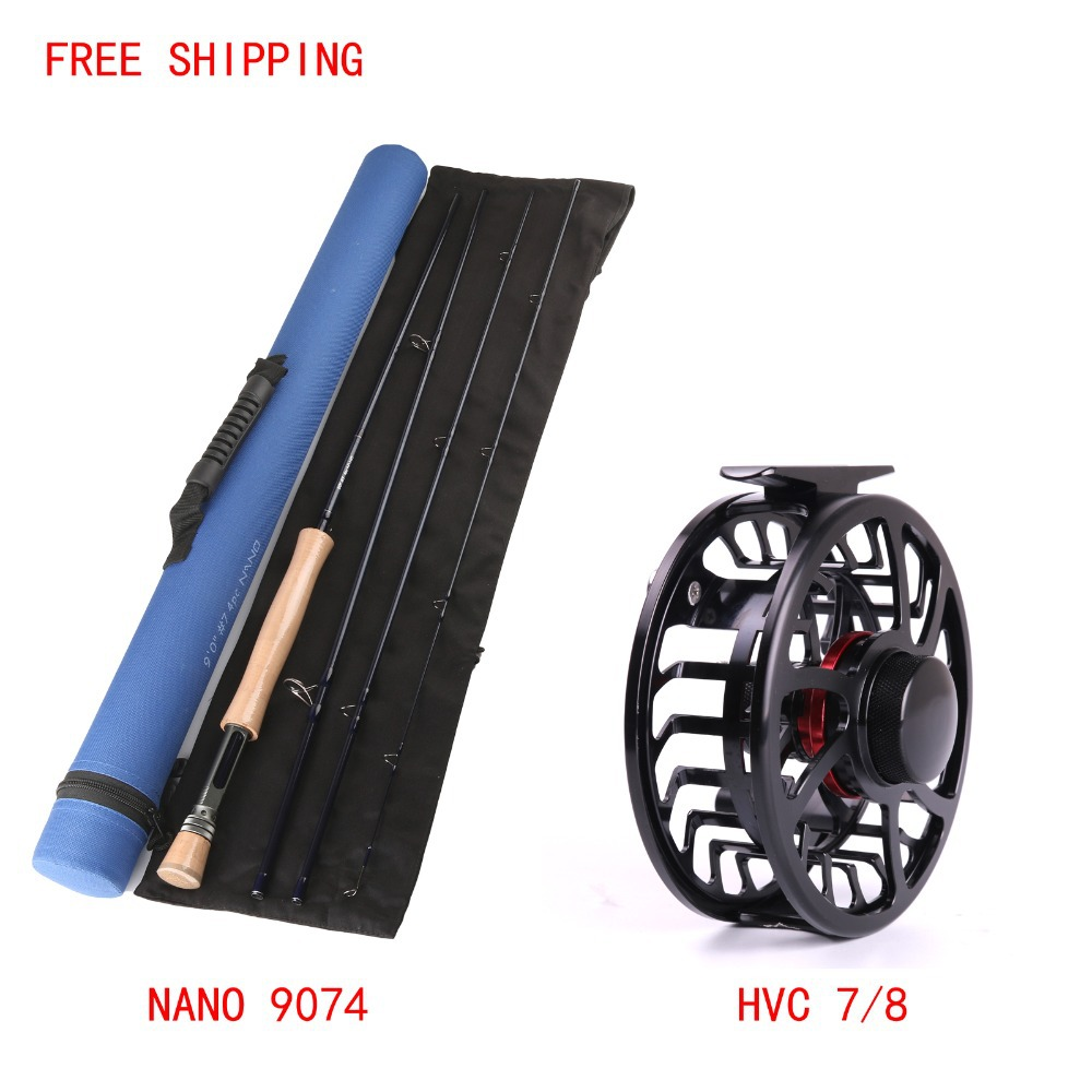 Maximumcatch IM 12 NANO Carbon Fly Fishing Rod 9FT 7WT AND HVC 7/8Weight Exclusive Super Light Fly Reel And Fly Rod Combo maximumcatch 5 6wt fly fishing combo 9ft fly rod and avid pre spooled reel outfit