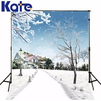 3M*2M(10*6.5 Ft) Kate Gorgeous Photography Backdrop Winter Snow Mirror Photography Backgrounds For Wedding Background
