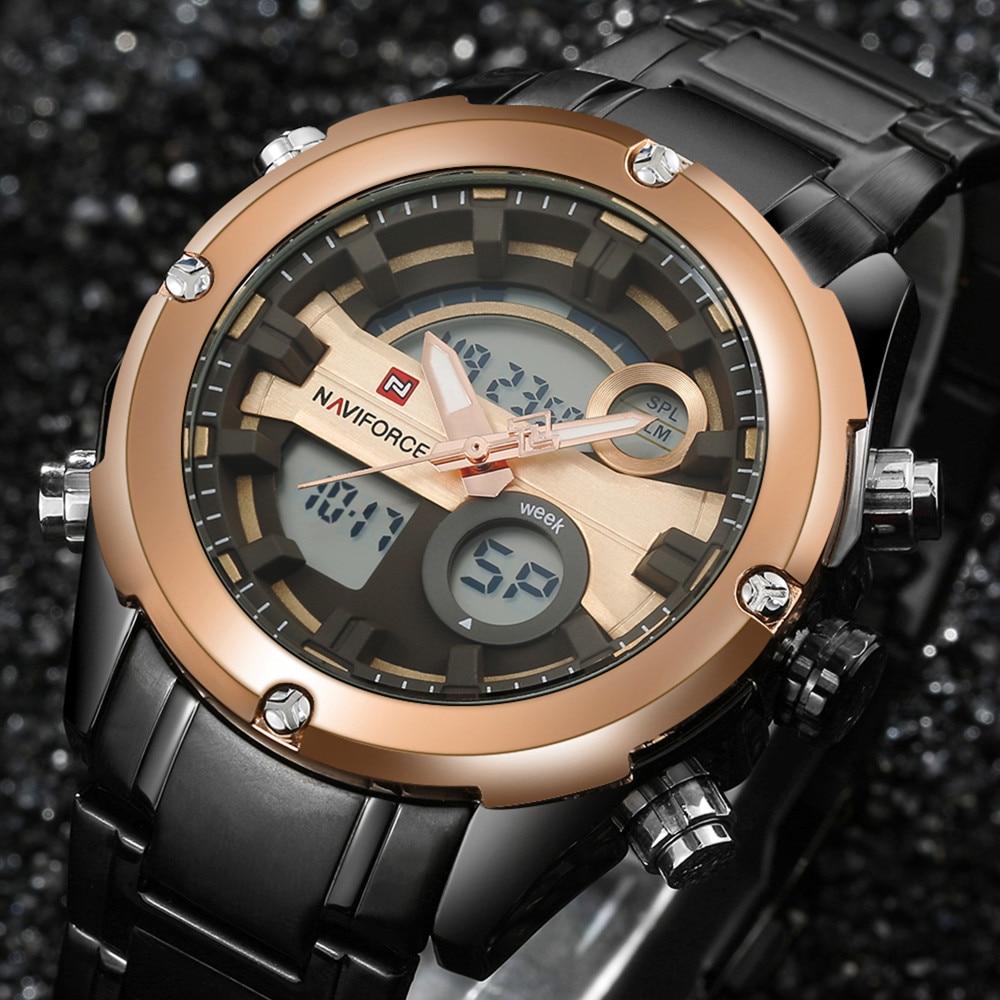 2017Top Brand NAVIFORCE Men Military Waterproof LED Sports Watch Men's Digital Analog Clock Male Wrist Watches relogio masculino