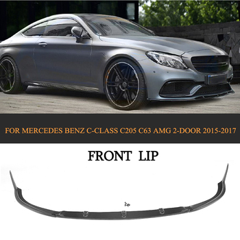Carbon fiber Car Front Lip Spoiler Bumper Protector for Mercedes-Benz C Class C205 C63 AMG Coupe 2 Door 2015-2017 jc 20130709 1