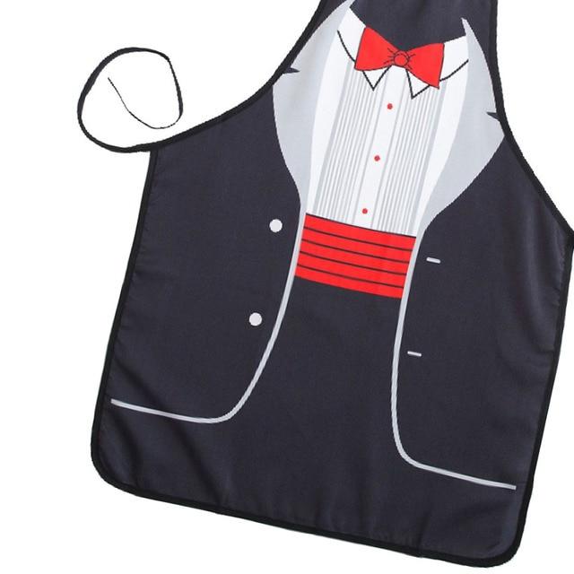 Новинка, кухонная утварь с красным бантом, сексуальный фартук с принтом, подарок для выпечки, Забавные милые фартуки для кухни