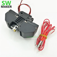 SWMAKER perfecte upgrade v6 hotend mount kit 0.4 MM nozzle voor Ultimaker2 + 3D printer alle metalen V6 printkop extrusie kit|0.4mm nozzle|hotend mounthotend kit -