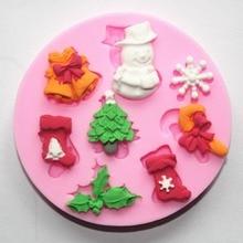 ندفة الثلج عيد الميلاد سلسلة سيليكون قالب الصابون Diy بها بنفسك يدوية حلوى الشوكولاته فندان كعكة كوكي قوالب قالب الكعكة أداة زخرفة