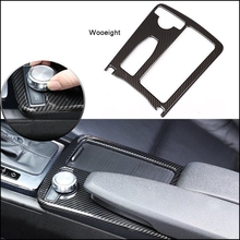цена на Wooeight Carbon Fiber Style Car Interior Water Cup Holder Cover Trim Panel Frame For Mercedes-Benz C Class W204 2008-2013 LHD