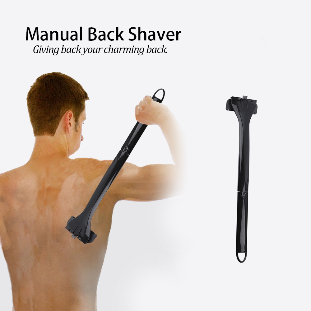 Men Manual Back Hair Shaver Plastic Long Handle Razor For All Body Parts Hair Blade Blue Beautiful And Charming Home Appliances