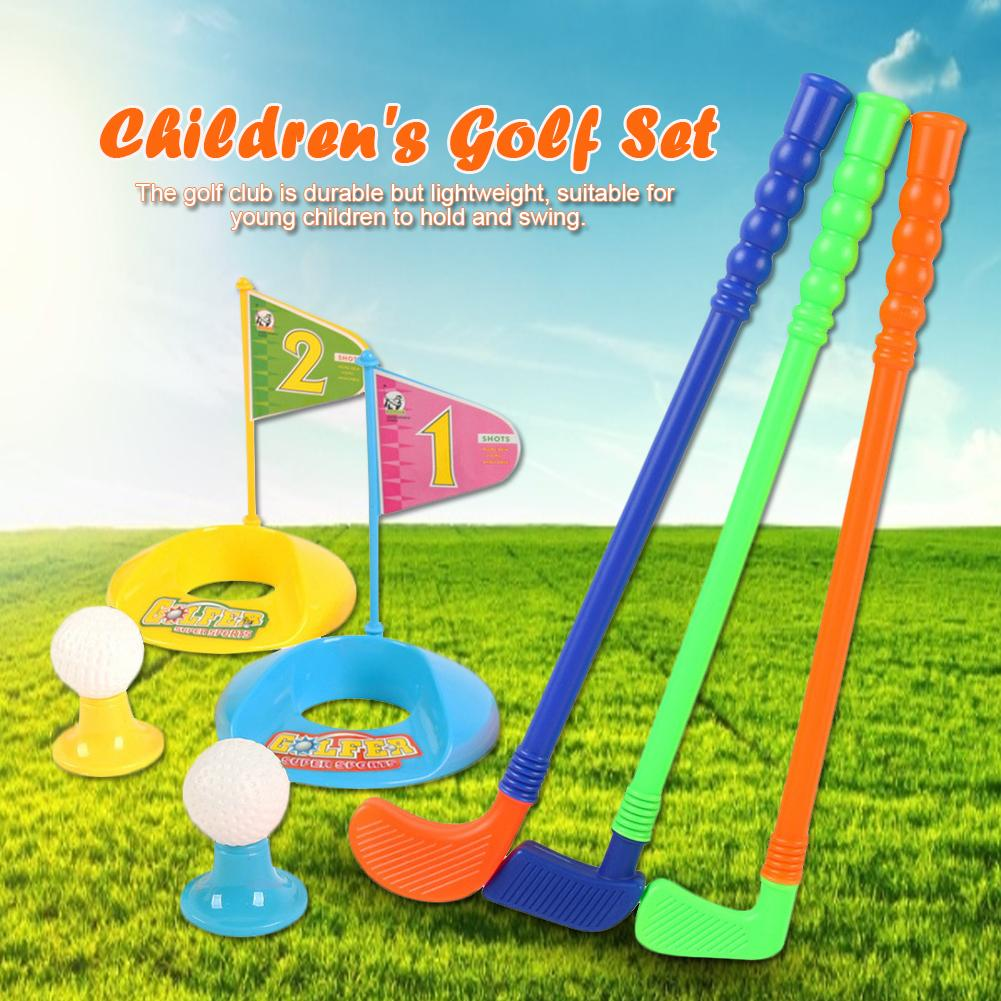 Professional Children Kids Outdoor Sports Games Toys Multicolor Plastic Mini Golf Club Set