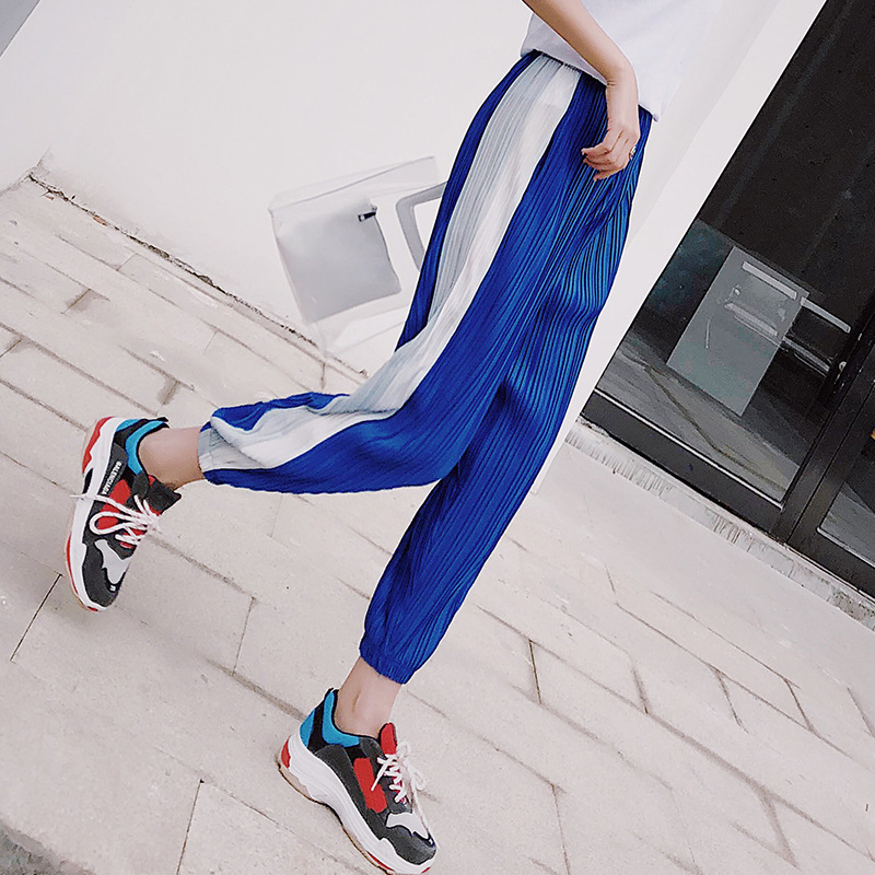 High Waist Jogger Women Cargo   Pants   Military Spliced Casual Hip Hop   Pants     Capri   Leggings Female Loose Trouser Cotton Harem   Pants