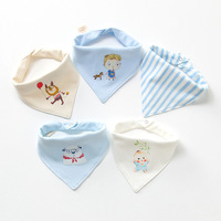 KALAMENG Baby Bibs Scarves Waterproof Cotton Tassel Saliva Towel Burp Cloth Scarf 5 Styles 5pcs Lot