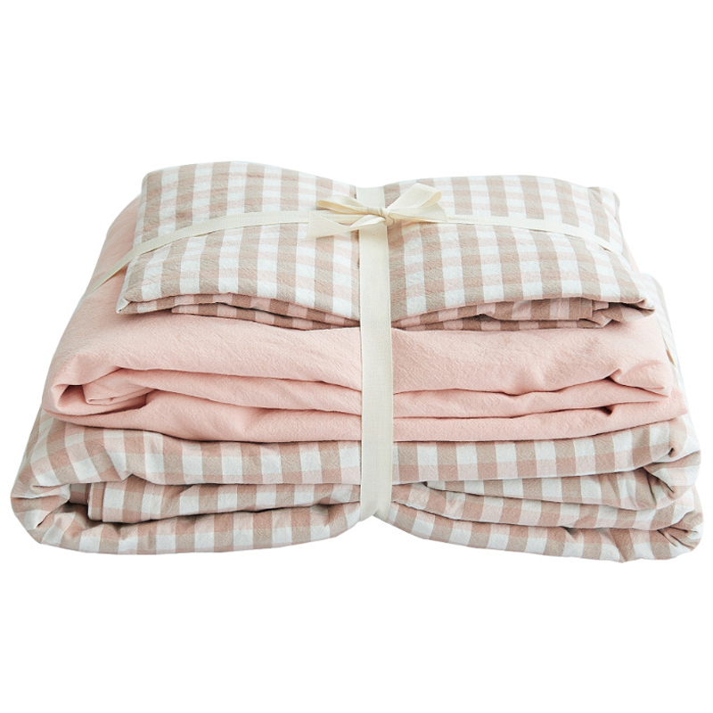 100% Cotton Plaid Striped Comforter Bedding Set Queen Single 4pcs Soft Warm Duvet Cover Sets Fitted Sheet Bed Sheet Pillowcase 100% Cotton Plaid Striped Comforter Bedding Set Queen Single 4pcs Soft Warm Duvet Cover Sets Fitted Sheet Bed Sheet Pillowcase