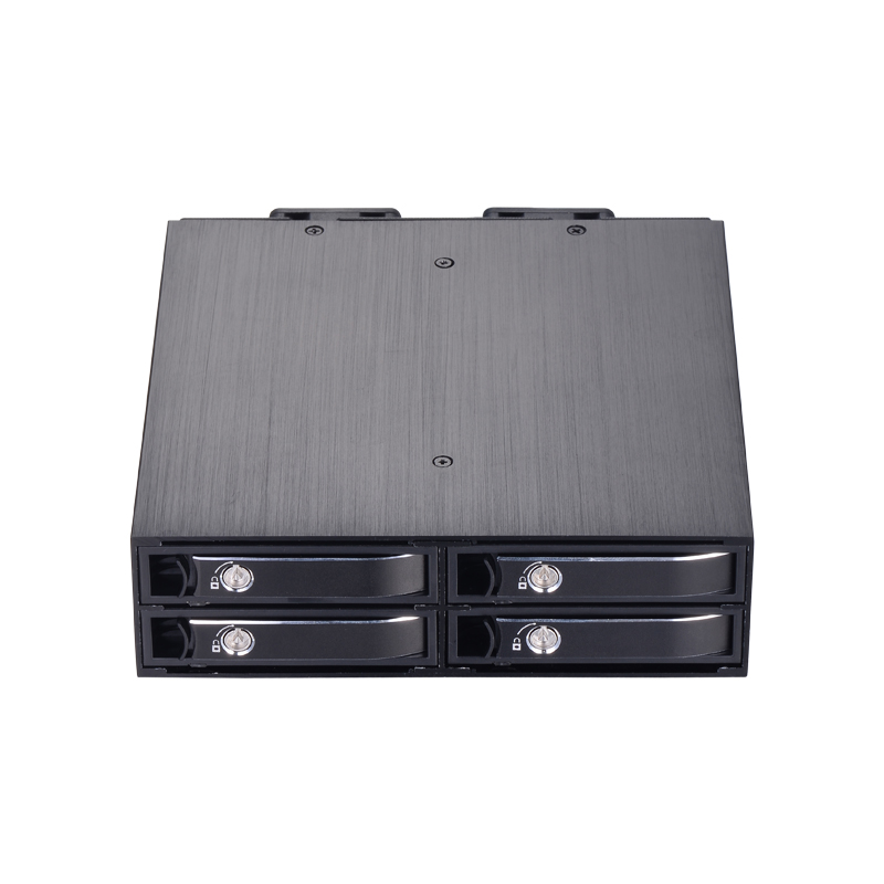 4 bay 2 5 inch internal SATA HDD SSD aluminum mobile rack with hot swap support