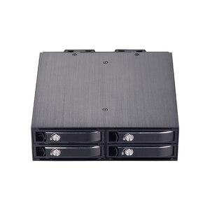 4-bay 2,5 pulgadas interna SATA HDD/SSD aluminio móvil rack con soporte hot-swap 7mm/9,5mm/15mm HDD/SSD recinto con bloqueo
