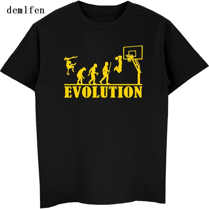 New Evolution Basketballer T Shirt Men Funny Fashion Hip Hop T Shirts Men Short Sleeve O-Neck Tops Tees Streetwear