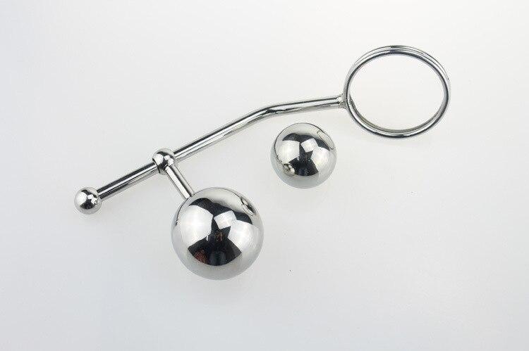 Из нержавеющей стальной крюк Размер кольца из бисера задержки дворе Анальный взрослых медицинского назначения для счастливые пары