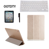 Fashion Solid PU Leather Front Cover Tablet Case Wireless Keyboard Screen Skin Touch Pen Stylus For