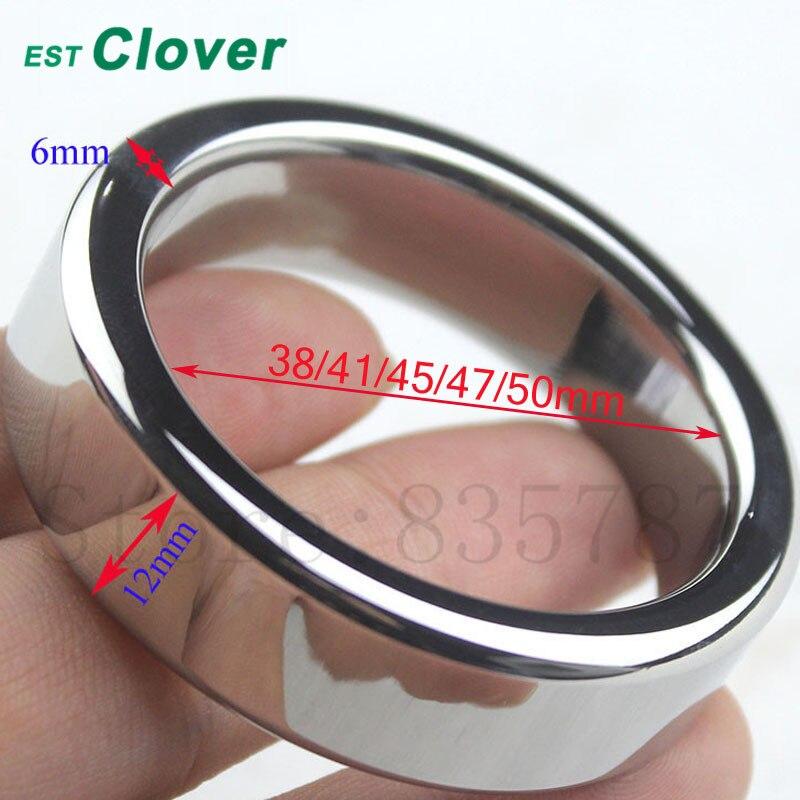 Acero inoxidable anillo de pene anillos de pene dispositivo de bloqueo erección sexo Juguetes para hombres R20