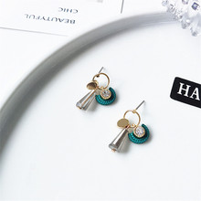 Fashionable geometry temperament is contracted set auger crystal ear drop acted the role of Vintage Earrings