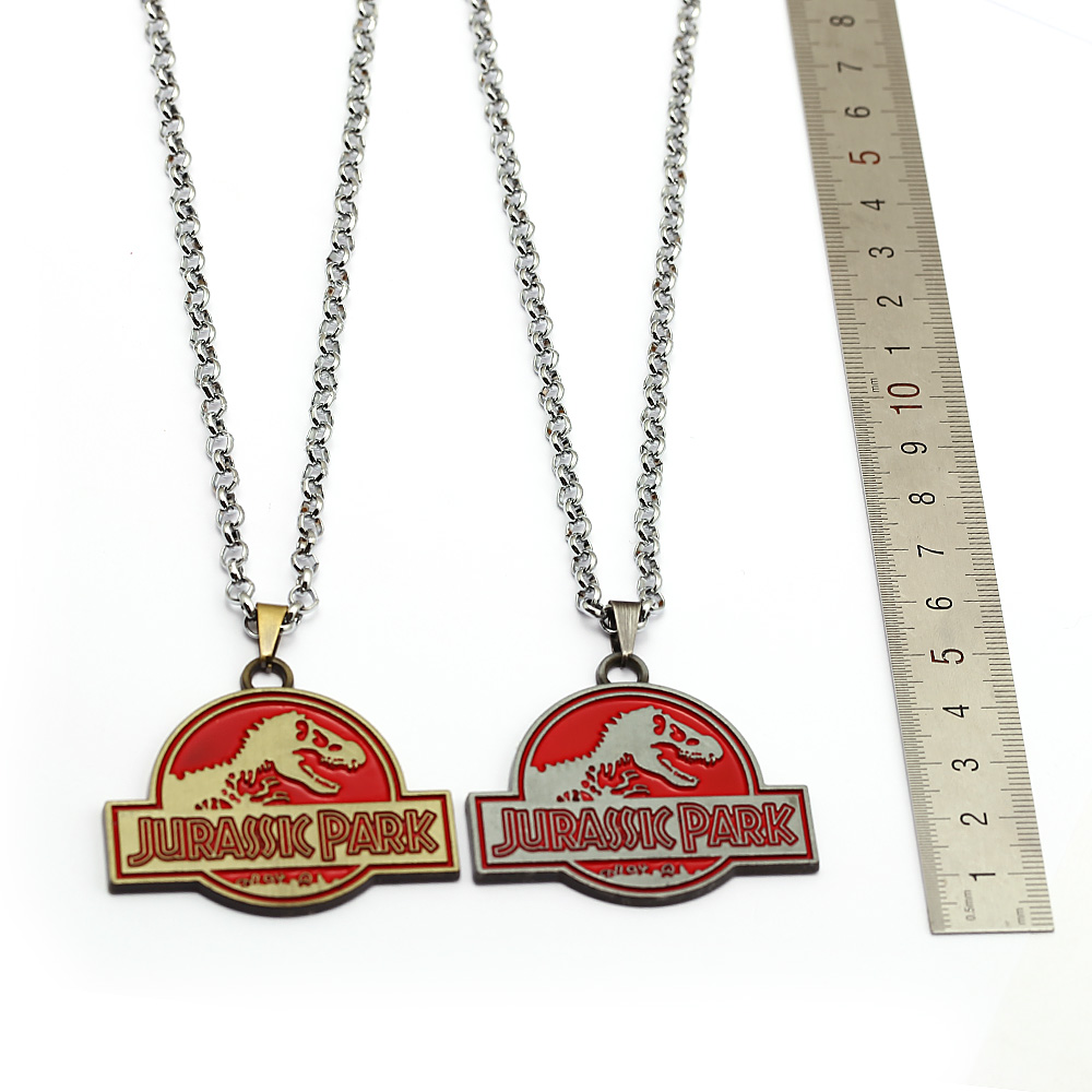 Jurassic Park Necklace with Charms Iron Publishing World Pendenti Collane