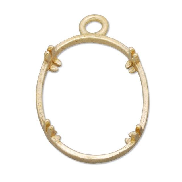 Vintage Antique Gold Tone Copper Oval Frame Pendant Charm for ...