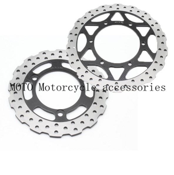 Motorcycle flower Rear & Front Disc Brake Rotor For Kawasaki Ninja 250R (EX250) 2008-2012 2009 2010 2011 Brake Disc 1 Set motorcycle front