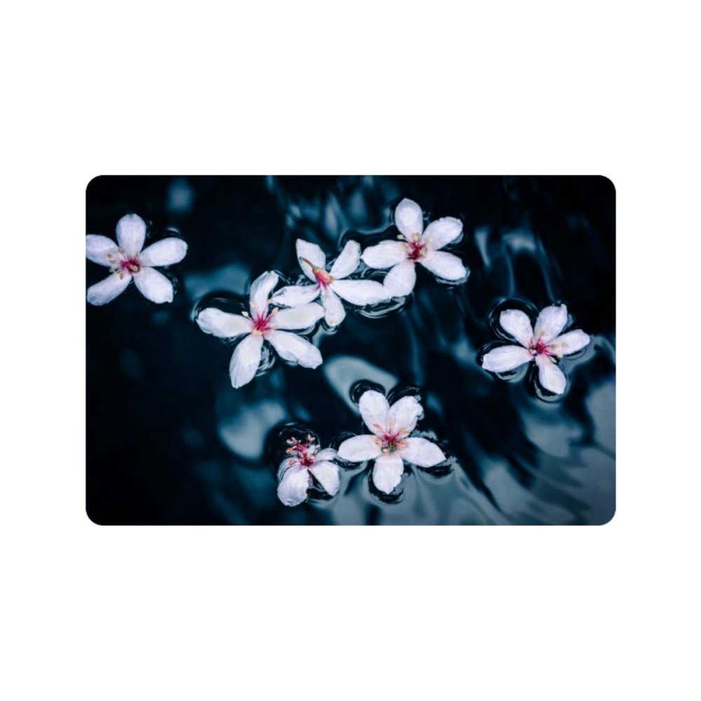 Customized tung flowers Doormat for Drying Wet Feet, Grabing Dirt and Dust (23.6 X 15.7 Inch)