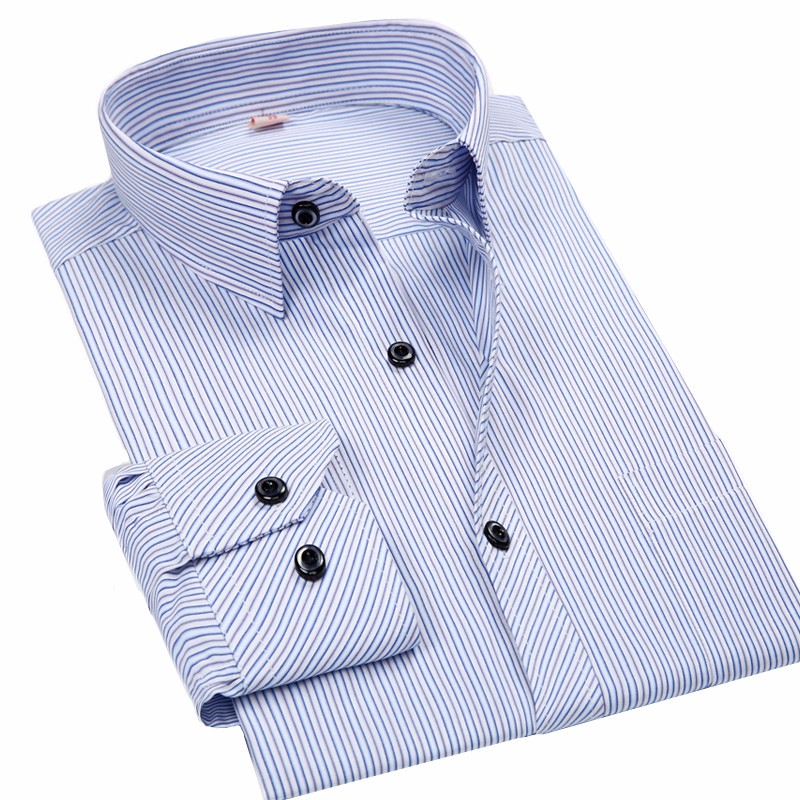 Размер 4xl 5xl большой размер 6xl 7xl 8xl большой размер мужские деловые повседневные футболки с длинными рукавами белого и синего цвета черный полосатый мужской социальной рубашка плюс