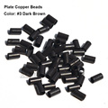 Plate Edge Copper Micro Rings 4.0*3.6*4.0mm Micro Link Beads Dreadlock Metal Tube Micro Link Rings For Hair Extensions