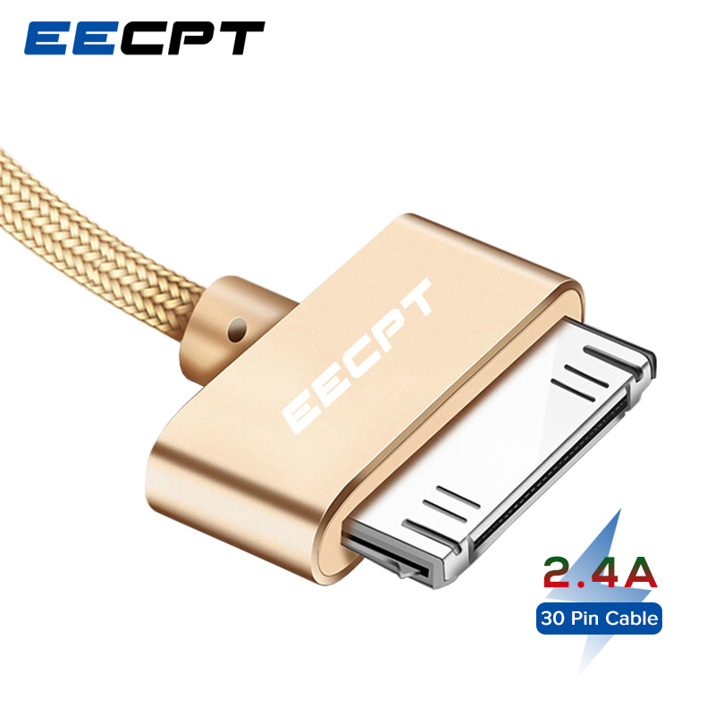 EECPT 30 Pin USB Cable for iPhone 4S 4 3GS iPad 1 <font><b>2</b></font> 3 iPod Nano iTouch Charger Cable Fast Charging Wire Data Phone Cord Adapter image