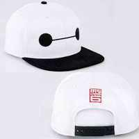 1Pcs Cute Cartoon Big Hero 6 Baymax Sun Baseball Hat Cosplay Costume Adjustable Cap Gift White